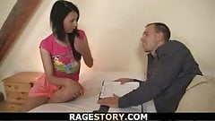 Rough and fiery fuck with Czech brunette