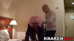 Street bitch spanked in a BDSM video
