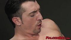 Buff stud receives erotic cocksucking before fucking his man