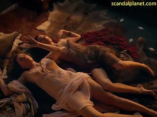 Lucy Lawless And Jaime Murray In Spartacus ScandalPlanet.Com