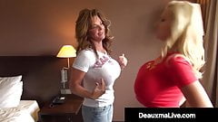 Busty Cougars Deauxma & Dolly Fox Compare Their Big Tits!