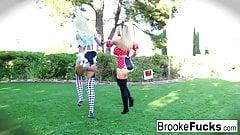 Brooke the Alice and Olivia the Minnie Halloween fuck's Thumb