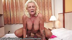 LustyGrandmas Curvy Grandma Moans for Youthful Cock