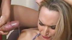 sexy shemale choke on big load
