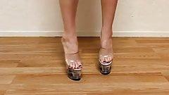 Sexy feet clear plattform-- Sexys tacones