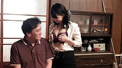 Japanese cheating housewife Mikan Kururugi takes it from beh