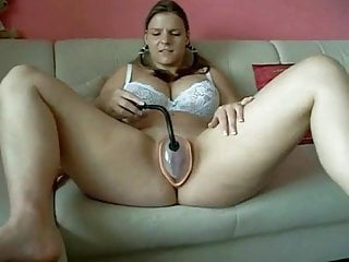 Fat Chubby Teen GF playing with her nice big pussy lips
