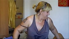 Maid straddles mature wife