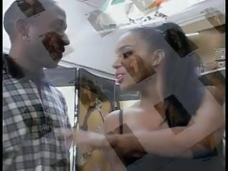 Black man bangs his ebony girl