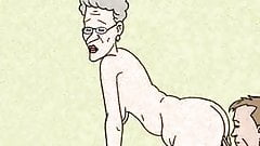 Granny Loves Anal Sex! Big Animation!