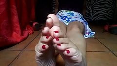 Smelly soles relaxing