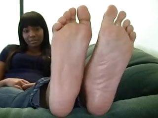Ebony with long slender feet