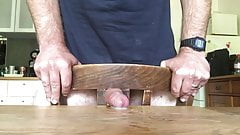 Fucking a chair and cum on table 2