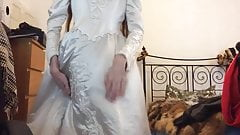 Playing in Wedding Gown 01