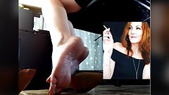 INCREDIBLE Red head PRETTIEST FACE AND FEET EVER -no sound