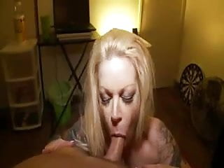 milf titty fucks and face fucks till he covers her face