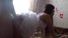Russian bride fucking and creampie