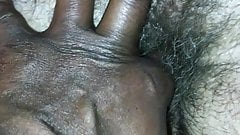 Fingering Kays Big Hairy Cum Filled Pussy