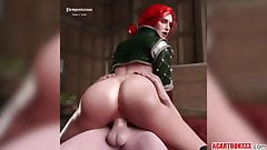 Sexy Triss Merigold sex and blowjob compilation