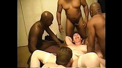 cuckold wives interracial cluster fuck