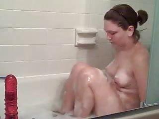 Bathtub Dildo Action