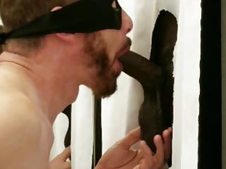 Huge BBC with big hanging balls stops by my gloryhole