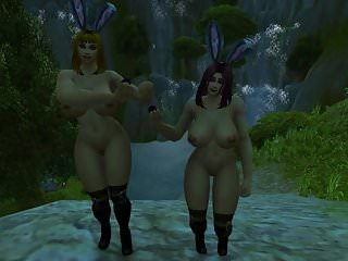 Preview 2 of Warcraft Busty Human Bunnies