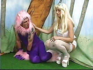Man dress sock fetish - Poodle dressed man has to eat dirty soil for his busty mistress