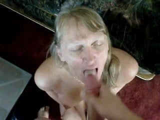 Pretty Young Amateur With Great Cleavage Gets Facialed