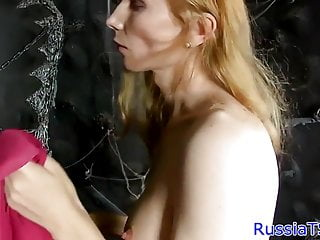 Preview 1 of Busty russian shemale toying her tight ass