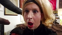 Sissy Crossdresser Annette gets a gigantic facial