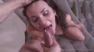 Young Anal Tryouts - Naked babe teases dude with her perfect