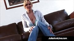 Dildo Fucking Cougar Julia Ann Makes Herself Cream & Cum!