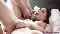 Glam babe analpounded in doggystyle