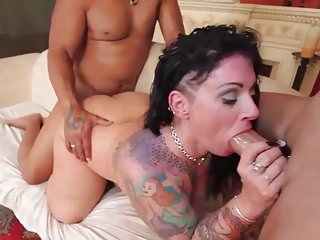 hot plumper milf gets BBC double penetration