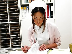 Asian nurse getting her wet pink pussy checked out Thumbnail