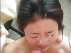 Thai Girl Blowjob and Looking Cumshot on Her Face