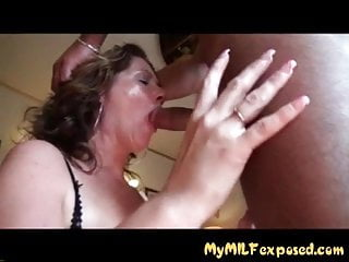 My MILF Exposed Thick wife in sexy lingerie tit fucking