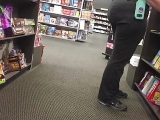 Book store clerk packing