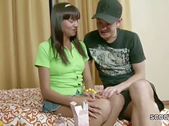 Extrem Petite Step-Sister Seduce to First Fuck by Brother