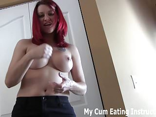 Make sure you cum twice so I can watch you eat it CEI