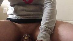 Frustration Masturbating in Chastity - No Release