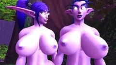 Night elf twins