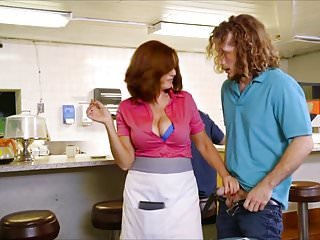 Andy James Busty Waitress