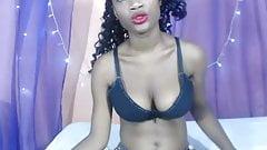 Sexy black girl show feet