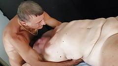 First meet -- Wife gets full treatment from Nudist Masseur