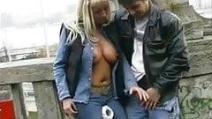 Street Hooker Masturbating Man in Public BVR