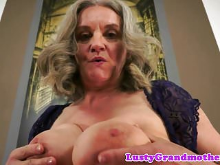 Chubby grandma banged in cowgirl position