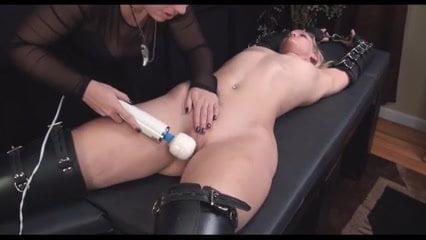 Shaved lesbianas wife masturbated