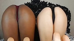Ebony and Ivory Ass Ignore